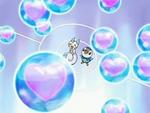 EP518 Piplup y Pachirisu usando una combinación de rayo burbujas y dulce beso