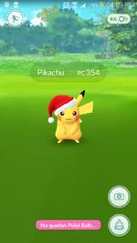 Encuentro con el Pikachu festivo