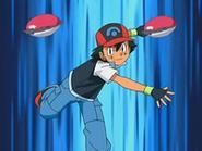 EP524 Ash mandando fuera a sus Pokémon