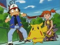 EP009 Pikachu de Ash usando malicioso