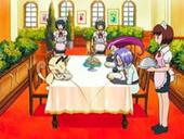 EP512 Jessie, James y Meowth disfrutando de la cena