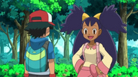 EP662 Iris encontrándose con Ash