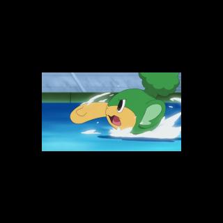 Pansage nadando.