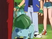 EP010 Bulbasaur empujando a Ash
