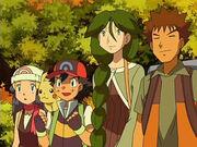 EP499 Ash, Dawn, Brock y Cheryl