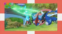 EP934 Mega-Charizard X vs Greninja Ash