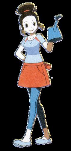 """Ilustración de la madre del <a href=""""/wiki/Protagonistas_de_los_videojuegos"""" title=""""Protagonistas de los videojuegos"""">protagonista</a>"""