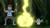 EP1040 Pikachu de Ash usando Rayo