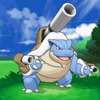 Mega-Blastoise en combate.