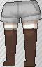 Calcetines largos marrón