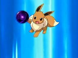EP468 Eevee lanzando bola sombra