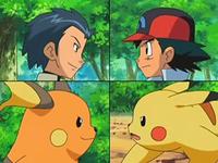 EP543 Sho y Raichu contra Ash y Pikachu