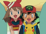 EP278 Aura y Ash hablando con Oak