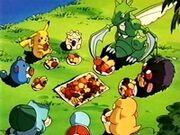EP100 Pokémon comiendo