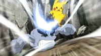 EP975 Pikachu usando cola férrea