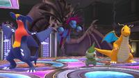 Garchomp, Hydreigon, Axew y Dragonite SSB4 Wii U