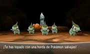 Combate contra horda de Pokémon