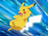 EE04 Pikachu usando Cola Ferrea