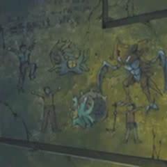 Otra de las pinturas de la cámara de piedra, con <a href=