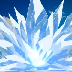 Crioaliento despiadad haciendo cristales de hielo.