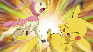 EP672 Deerling vs Pikachu