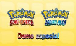 Carátula Demo especial de Pokémon Rubí Omega y Pokémon Zafiro Alfa