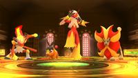 Sala de las Llamas en la Liga Pokémon de Kalos SSB4 Wii U
