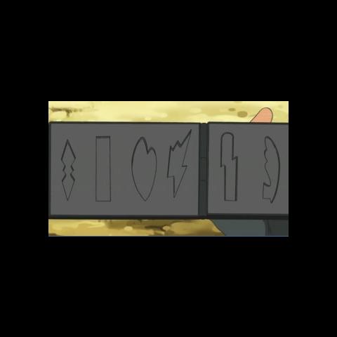 Estuche de Ash con la forma de las medallas en EP673