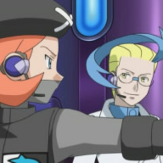 Aldith dirigiendo a los Pokémon controlados.