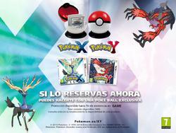 Poké Ball al reservar Pokémon XY