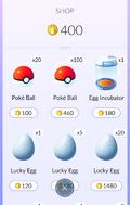 Pokémon GO Tienda