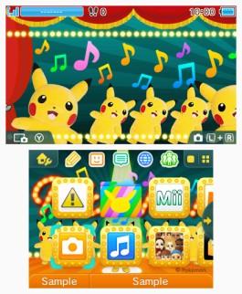 Tema 3DS Pokémon Pikachu bailarín