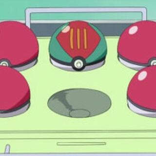 Cebo Ball, junto a otras balls, en la <a href=