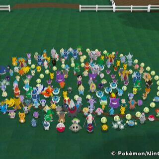 Muchos de los Pokémon del juego.