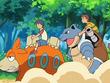 EP560 Alumnos cabalgando con sus Pokémon