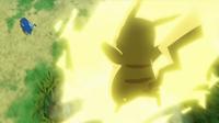 EP930 Pikachu de Ash usando rayo