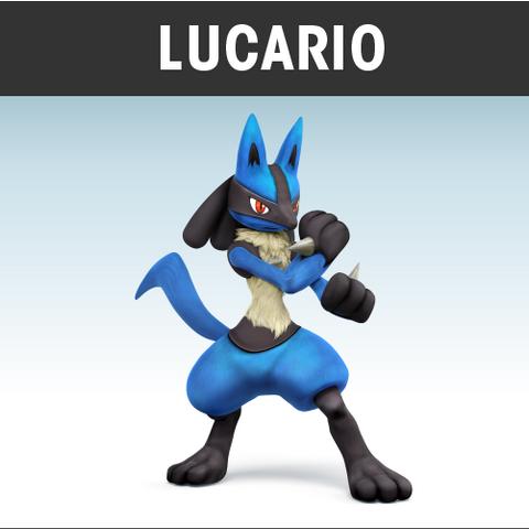Ilustración oficial de Lucario en el juego.