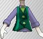 Chaleco con corbata verde