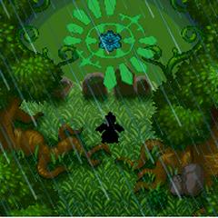 Grovyle robando el engranaje del Bosque