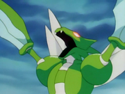 EP042 Scyther alterado por el color rojo