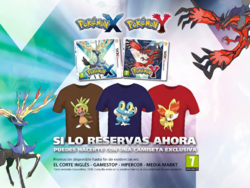 Camiseta Chespin, Froakie y Fennekin al reservar Pokémon XY