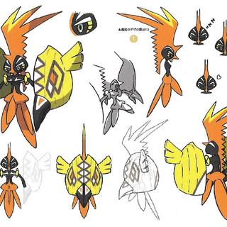 Bocetos de Tapu Koko