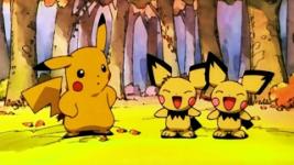 Pikachu y los hermanos Pichu