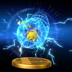Trofeo del Smash Final de Pikachu en Wii U.