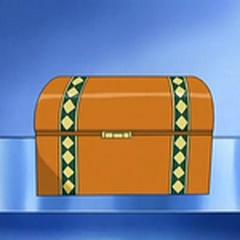 Cofre con el talismán en la caja fuerte.