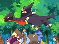 EP560 Alumnos cabalgando con sus Pokémon (3)