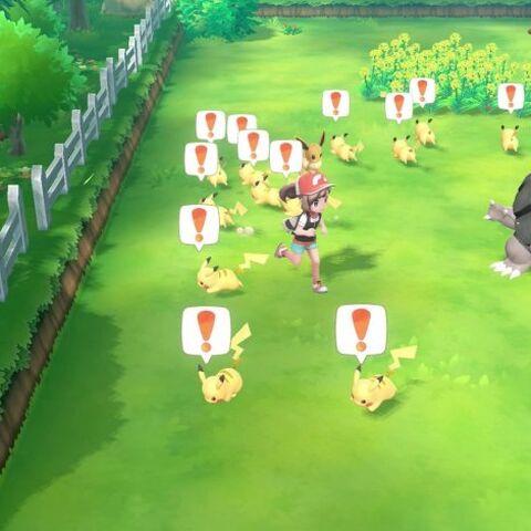 Atrapa a Pikachu.