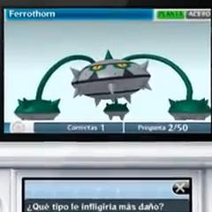 Reto Pokémon sobre las debilidades de el pokemon. En este caso,<a href=