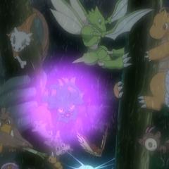 Dragonite protegiendo a loS <a href=