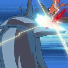 Heracross combatiendo contra el <a href=